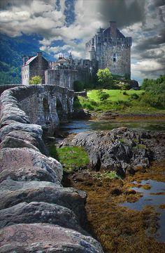 Bridge To The Castle. Scotland