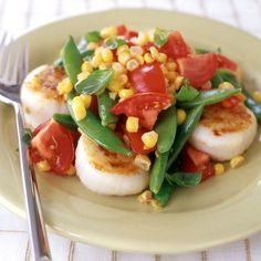 Weight Watchers Scallop, Corn and Tomato Salad: 5 Points+