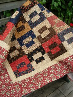 Country Farmhouse Quilted Throw