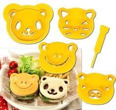 Amazon.com: Cutezcute Animal Friends Food Deco Cutter and Stamp Kit: Kitchen & Dining