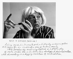Duane Michals detail from 'who is Sidney Sherman?', 2000, six gelatin silver prints with hand applied text.