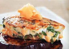 Salmon Burgers with Spinach and Ginger from Epicurious.com #myplate #protein #veggies
