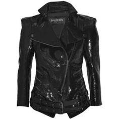 Balmain Black Sparkle Jacket @ Polyvore.