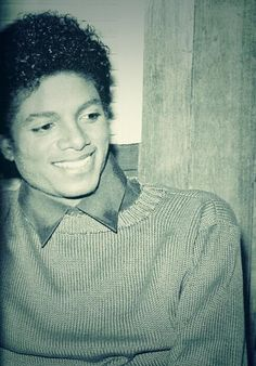 Michael Jackson in black and white from the Thriller Era.