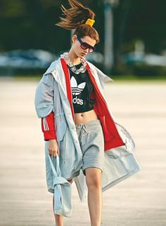 Giedre Dukauskaite Dons Sporty Glam Style for Marie Claire UK