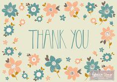 Thank You by Rebecca Stoner www.rebeccastoner.co.uk