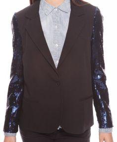 Sequined Sleeve Blazer