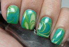 beautiful water marble, i love the colors