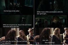 A little conversation, girl-to-girl...