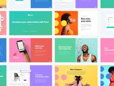 Colorful Sales Deck Presentation by Janna Hagan over on dribbble Id Card Design, Ppt Design, Slide Design, Deck Design, Layout Design, Branding Design, Tech Branding, Booklet Design, Identity Branding