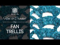 The Fan Trellis Stitch :: Crochet Stitch #185 :: New Stitch A Day