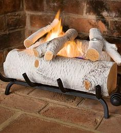 SUCH a cool idea, if you don't have a working fireplace, via design sponge