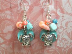 Sea Turtle Earrings by TiffanyLynnsCloset on Etsy, $20.00
