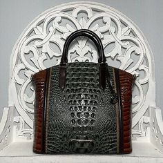 Brahmin Large Duxbury Satchel Serpentine Heartwood Leather 749034319749 | eBay Brahmin Handbags, Brahmin Bags, Satchel Handbags, Purses And Handbags, Leather Handbags, Satchel Purse, Pebbled Leather, Leather Crossbody, Green Characters