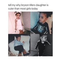Uh, because she's mixed. Because Bryson Tiller isn't cute. He just has a pretty voice.