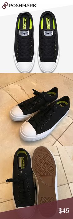CONVERSE CHUCK II LOW TOP Never been worn black converse. Converse Shoes Sneakers