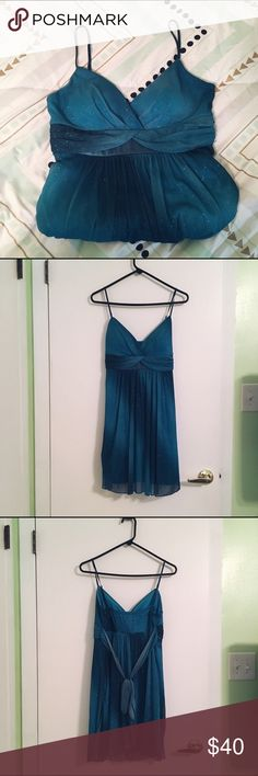 Blue sparkling formal dress Worn once to a wedding Size: L, fits more like a M Condition: Like new This dress is perfect for a wedding or homecoming. Willing to negotiate price! Bundle to get a personalized discount!!! jcpenney Dresses Mini