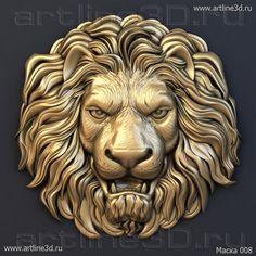 3d модель маски льва для ЧПУ - Маски - artline3d.ru