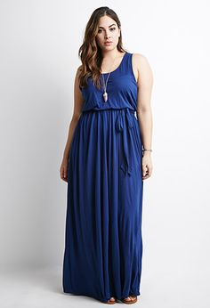 Self-Tie Maxi Dress | Forever 21 PLUS - 2000079854