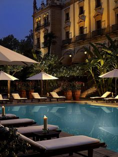 Hotel Alfonso XIII, Seville—Pool by Luxury Collection Hotels and Resorts, via Flickr
