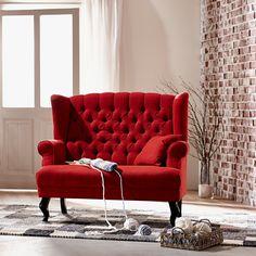 Grand Duc křeslo s polštářem / Red traditional armchair