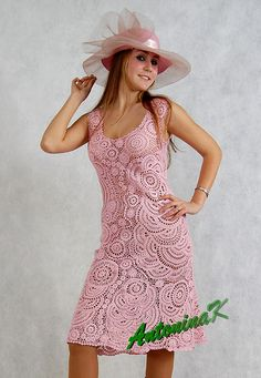 The most beautiful crocheted dress I've ever seen, from AntoninaK