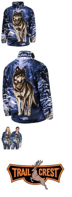 377c03cc3f22 Outerwear 155195: Trailcrest R Lixio Fleece Blue Wolf Print Animal Jacket  Unisex Sweater Gift 2619