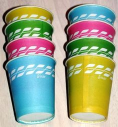 Remember these Dixie cups! Reminds me of times at our cottage by the lake.