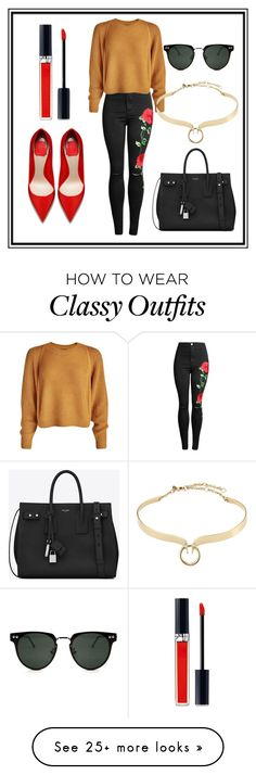 """""""Keep it chic, keep it classy"""" by anjalisavlani on Polyvore featuring Christian Dior, Alexis Bittar, Spitfire, Yves Saint Laurent, chic, classy and keepitchickeepitclassy"""