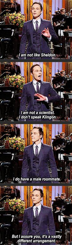 I am not like Sheldon