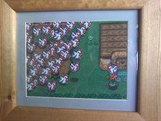 "Legend of Zelda ""Cucco Avalanche"" cross stitch, no pattern Cross Stitch Games, Cross Stitch Love, Cross Stitch Kits, Cross Stitch Patterns, Cross Stitching, Cross Stitch Embroidery, Embroidery Patterns, Video Game Crafts, Kawaii Crafts"