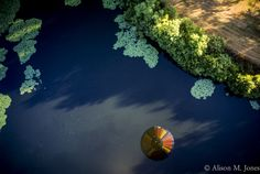© Alison M. Jones #reflection #hot #air #balloon #fun #colors