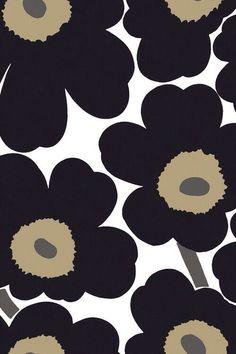 Marimekko fabrics - Buy online from Finnish Design Shop. Discover Unikko and other Marimekko fabrics for a modern home! Marimekko Wallpaper, Marimekko Fabric, Print Wallpaper, Pattern Wallpaper, Iphone Wallpaper, Collage Background, Arte Floral, Fabric Decor, Cute Wallpapers