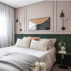 Home Decor Inspiration .Home Decor Inspiration Contemporary Bedroom, Bedroom Inspirations, Bedroom Interior, Bedroom Design, Luxurious Bedrooms, Home Room Design, Bedroom Layouts, Green Headboard, Classic Bedroom