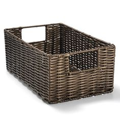Perfect pieces pull it all together! A Rattan-themed woven bin for any necessities in any room.