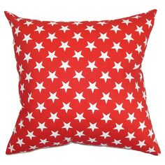 Reversible cotton pillow with a star motif. Made in the USA. Product: PillowConstruction Material: CotonColor: Red and whiteFeatures: Made in the USAIncludes a down pillow insertHidden zipper closure Dimensions: 18 x 18 Cleaning and Care: Spot clean Down Pillows, Floor Pillows, Bed Pillows, Cushions, Star Bedding, Twinkle Twinkle Little Star, Cotton Pillow, Cotton Fabric, Red White Blue