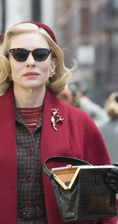 """Carol Aird (Cate Blanchett): """"Just when it can't get any worse, you run out of cigarettes."""" -- from Carol (2015) directed by Todd Haynes"""