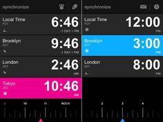 World Clock App Synchronize for iPhone, iPod Touch and iPad