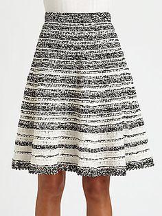 Oscar de la Renta Silk Crochet Skirt