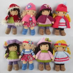 Little Belles Doll knitting pattern INSTANT DOWNLOAD by dollytime