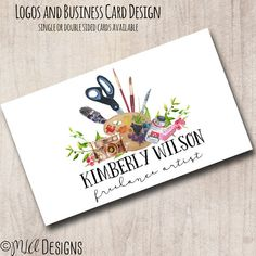 Premade Watercolor Logo Artist Logo Premade by MLAdesigns on Etsy