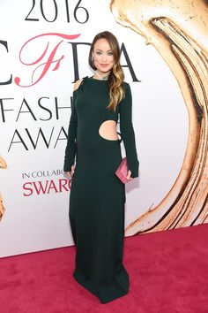 Olivia Wilde in a Rosie Assoulin dress and Edie Parker bag - 2016 CFDA Fashion Awards - June 6, 2016