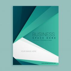 Geometric brochure with vivid colors Free Vector