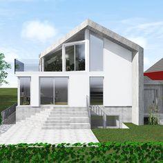 moderne hus med saltak - Google-søk