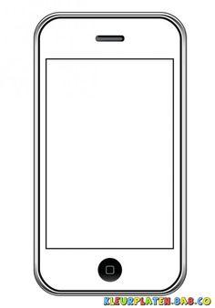 Tekening van een verf en kleur Iphone | KLEURPLATEN VOOR KIDS | Iphone4…