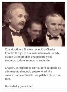 Einstein y Chaplin Smart Quotes, Me Quotes, Success, Spanish Quotes, Inspire Me, Cool Words, Life Lessons, Inspirational Quotes, Motivational