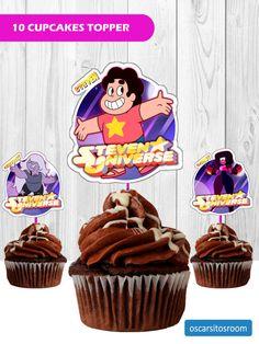 Mira este artículo en mi tienda de Etsy: https://www.etsy.com/es/listing/491525118/10-toppers-steven-universe-para-cupcakes