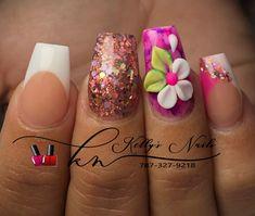 3d Acrylic Nails, Stiletto Nail Art, 3d Nail Art, 3d Nails, Pastel Nails, Beautiful Nail Art, Gorgeous Nails, Pretty Nails, French Nails