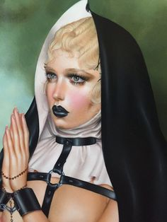 "Image of ""Leather Virgin"" Original Painting"