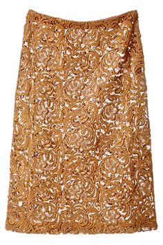 Go for Broke   Prada Gold Lace Skirt - NYTimes.com